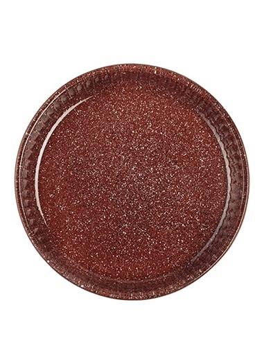 Granit Borcam - Yuvarlak Koyu Gri - 26 Cm-Paşabahçe